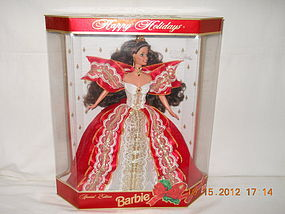 1997 SPECIAL EDITION HAPPY HOLIDAY BRUNETTE BARBIE