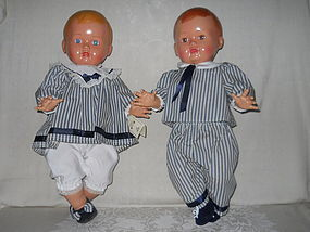 FROM EUROPE, TWINS BROTHER & SISTER DOLLS