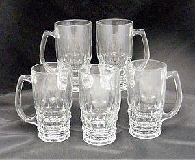 5 Ravenhead Vintage Beer or Beverage Glass Mugs