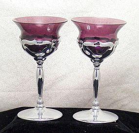 Cambridge/Farber Bros Amethyst Chrome Wine Stems