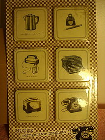 Marco Fabiano Vintage Style Refrigerator Magnets
