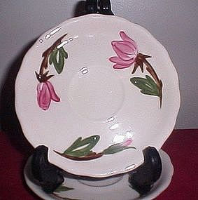 Continental Kilns Green Arbor Rose Saucers