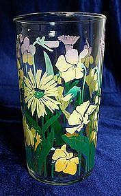 Libbey Floral Glass Tumbler