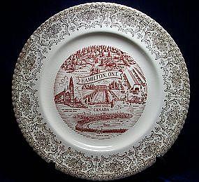 Vintage Hamilton Ontario Collectible Plate