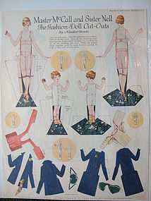 Master McCall Paper Dolls from October, 1925 issue