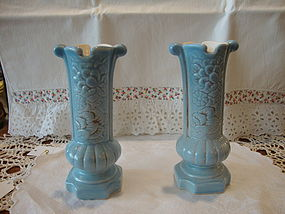 Red Wing English Garden candle holders