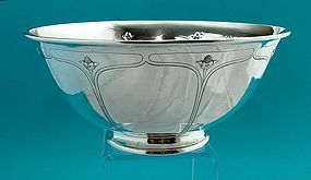 Arthur Stone floral chased large bowl,