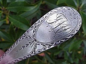 Pair of antique American table spoons, Robert Swan,