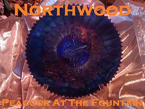 """Northwood Peacock At The Fountain 9"""" Bowl"""