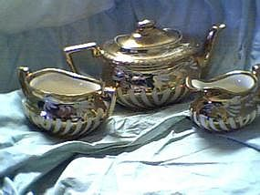Georgian England Teapot/Cream and Sugar