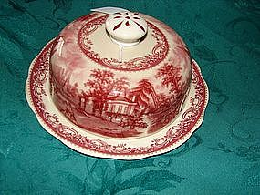 Staffordshire Transfer Butter Dish