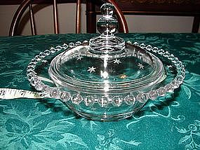 Imperial Candlewick covered bowl