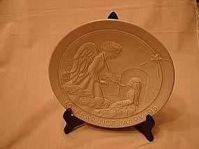 Frankoma 1995 Christmas collector plate.