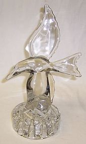 Cambridge Crystal SEAGULL 10 Inch tall FLOWER FROG
