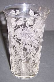 Morgantown Crystal AMERICAN BEAUTY Flat TUMBLER