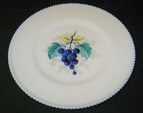 Westmoreland BEADED EDGE 10 1/4 Hp GRAPES PLATE