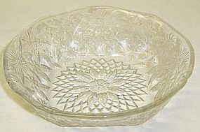Indiana Crystal PINEAPPLE and FLORAL 6 Inch CEREAL BOWL