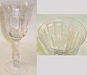Fostoria Crystal MEADOW ROSE 7 1/2 In 10 z WATER GOBLET