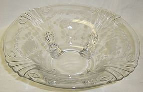 Fostoria Crystal MIDNIGHT ROSE 10+ 4 Ftd CONSOLE BOWL