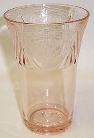 Hazel Atlas Pink ROYAL LACE 5 In 12 oz ICE TEA TUMBLER