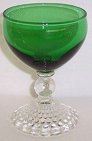 Anchor Hocking Fire King Green BUBBLE 4 Inch COCKTAIL