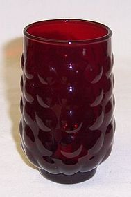 Anchor Hocking Fire King Red BUBBLE 3 3/4 JUICE TUMBLER