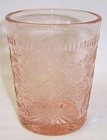 U. S. Glass Pink STRAWBERRY 3 5/8 In 9 Ounce TUMBLER