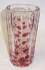 Westmoreland Ruby Flashed PANELED GRAPE ICE TEA TUMBLER