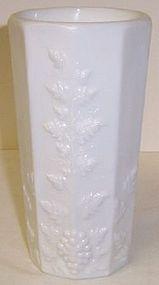 Westmoreland Milk Glass PANELED GRAPE ICE TEA TUMBLER