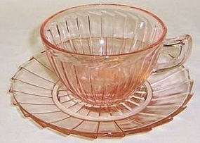 Jeannette Pink SIERRA Pinwheel CUP and SAUCER