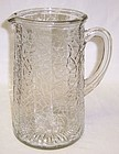 Federal Crystal JACK FROST CRACKLED 8 1/4 Inch PITCHER