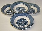 Royal CURRIER and IVES OLD FARM GATE 5 5/8 In FRUIT BOWLS, Set 4
