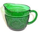 Anchor Hocking Fire King Forest Green SANDWICH CREAMER