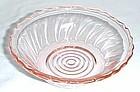 Jeannette Depression Glass Pink SWIRL 5 1/2 Inch CEREAL BOWL