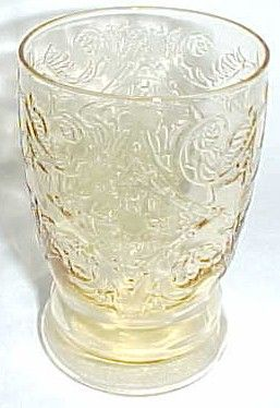 Federal Amber MADRID Vintage 4 1/4 Inch WATER TUMBLER