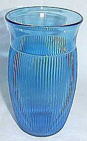 Depression Glass Cobalt FINE RIB 5 In Ice Tea Tumbler
