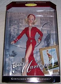 1997 Mattel White MARILYN MONROE Barbie Doll Col Ed-MIB