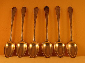 6 Tablespoons by C.Wiltberger, Philadelphia, circa 1800