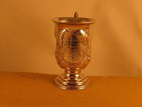 Presentation cup , Tifft&Whiting, N.Attleboro,MA,c.1853