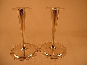 Pair of candlesticks by Daniel Reese, Boston