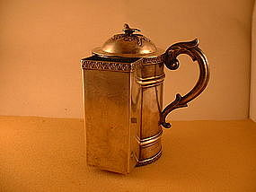 Covered shaving mug with brush compartment;Phila;2Q19C.