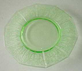 "Cambridge CLEO 8"" Luncheon Plate, Emerald Green Light"
