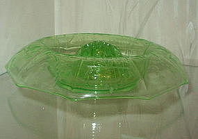 "Cambridge 12"" Etched Console Bowl, Frog, Light Green"