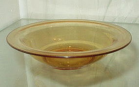 "Cambridge ROUND 5 1/4"" Dessert or Fruit Bowl, Amber"