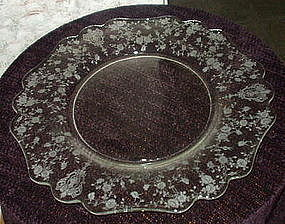 "Cambridge ROSE POINT #3400/65 14"" Chop Plate, Crystal"
