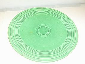 Green Fiesta unmarked older dinner plate