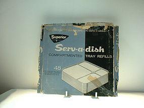 Superior Serv-a-dish compartmented tray refills
