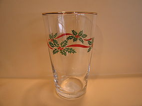 Libbey Holly Berry Glass