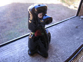 Black Poodle Salt Shaker