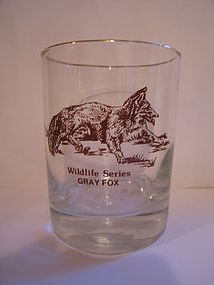 Wildlife Series Gray Fox Glass
